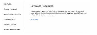 Cara Meminta dan Download Semua Data Instagram Anda