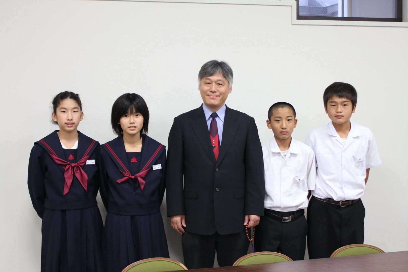 敬愛中学校・敬愛高等学校: 柳西中学校の生徒さん 来校