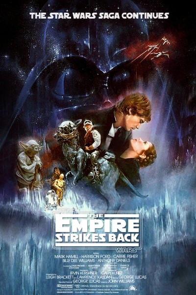 Poster of Star Wars Episode V The Empire Strikes Back 1980 720p Hindi BRRip Dual Audio