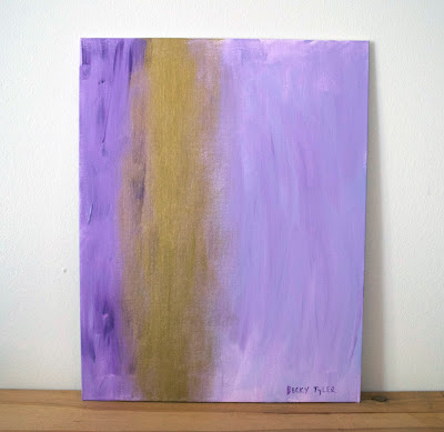 Purple Abstract Painting, Acrylic