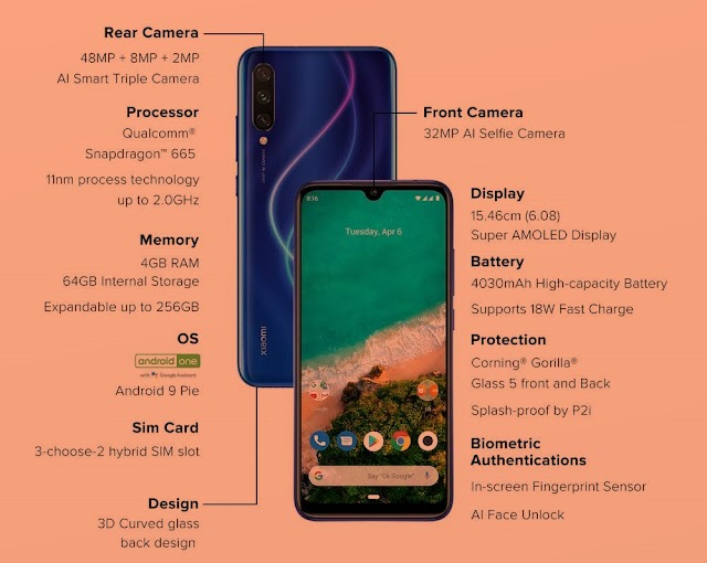 Xiaomi Mi A3 Mobile Review, Features, and Price in India