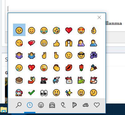 Windows 10 Üzerinde Emoji Kullanma