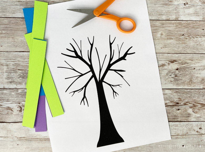 printable Kandinsky tree template