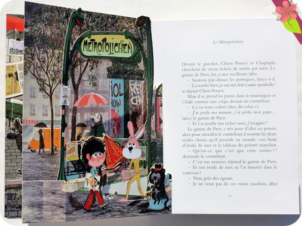 Chien pourri à Paris ! Pop-up de Colas Gutman et Marc Boutanvant - école des loisirs