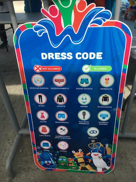 WaterWorld Cebu Dress Code