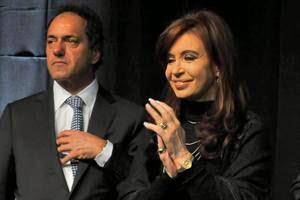 Daniel Scioli y Cristina Fernández de Kirchner