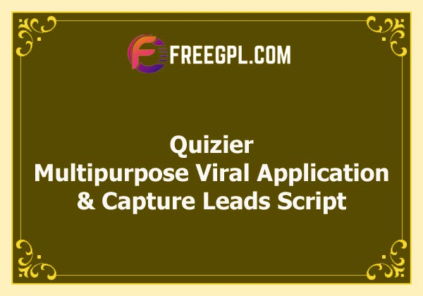 Quizier Multipurpose Viral Application & Capture Leads Nulled Download Free