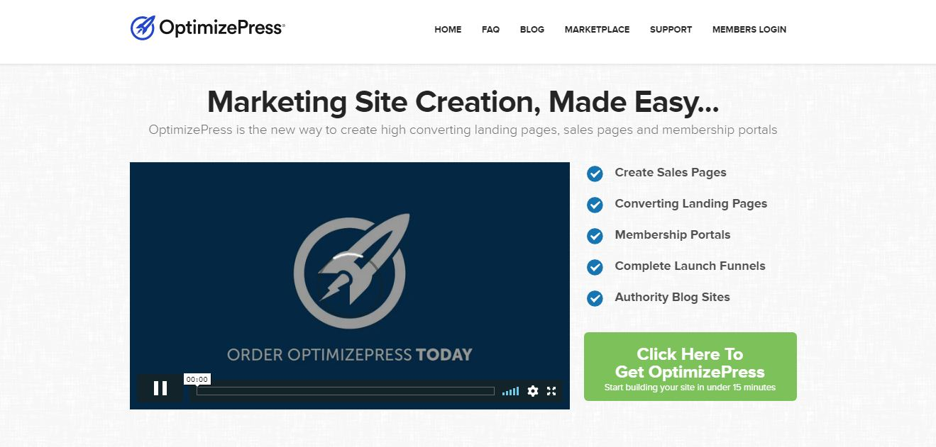 optimize press landing page creator tools