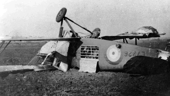 24 February 1941 worldwartwo.filminspector.com Hawker Hind trainer crashed
