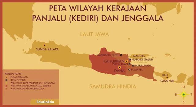 wilayah kerajaan kediri