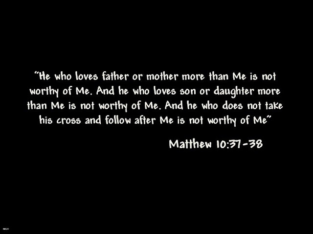 Matthew 10 37 38