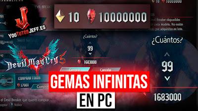 GEMAS ROJAS INFINITAS Devil May Cry 5 PC