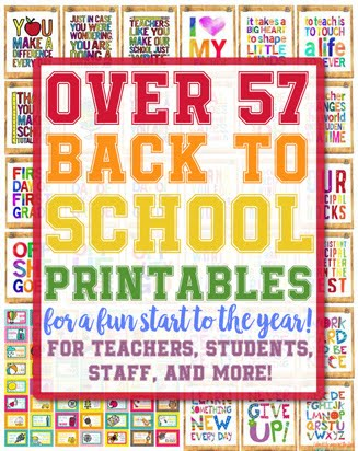 Start the school year off right with these printables! They're HUGE helpers in so many ways.