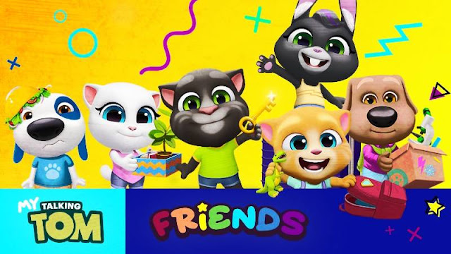 تحميل لعبة My Talking Tom Friends مهكرة