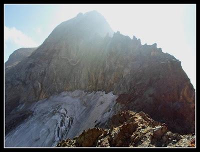 Collado y glaciar del Portillón, y arista Oeste al Perdiguero