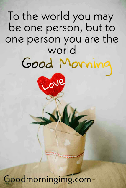 Beautiful Good Morning Romantic Heart Image