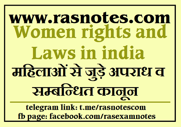 Women related laws and Crime in india