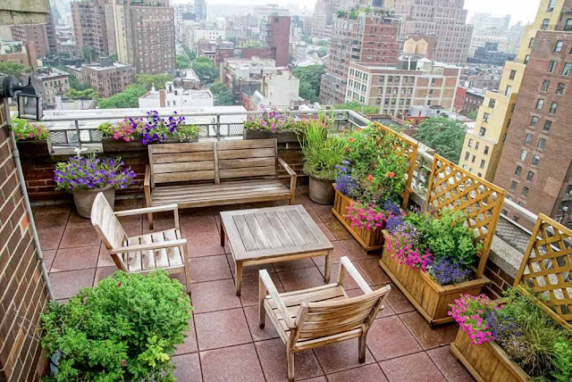 Example of Rooftop Garden Design for Beautiful Rooftop Patio Idea