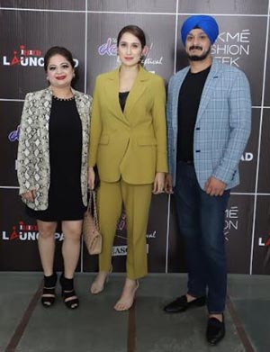 Avneet Grover, Centre Director INIFD West Delhi, Bollywood Actress Sagarika Ghatge and Jatin Grover