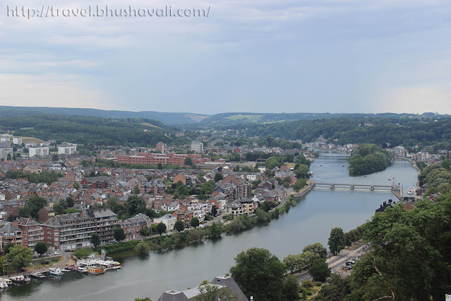 Citadel of Namur View of river Meuse