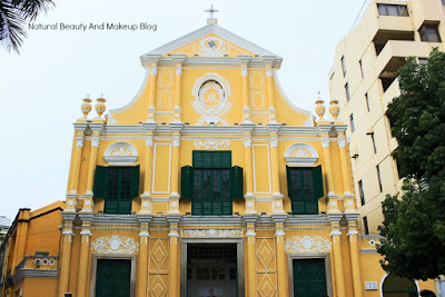 Full photo of St. Dominic's Church located at Senado Square, Macau. Heritage church  make for Historical Centre Of Macao