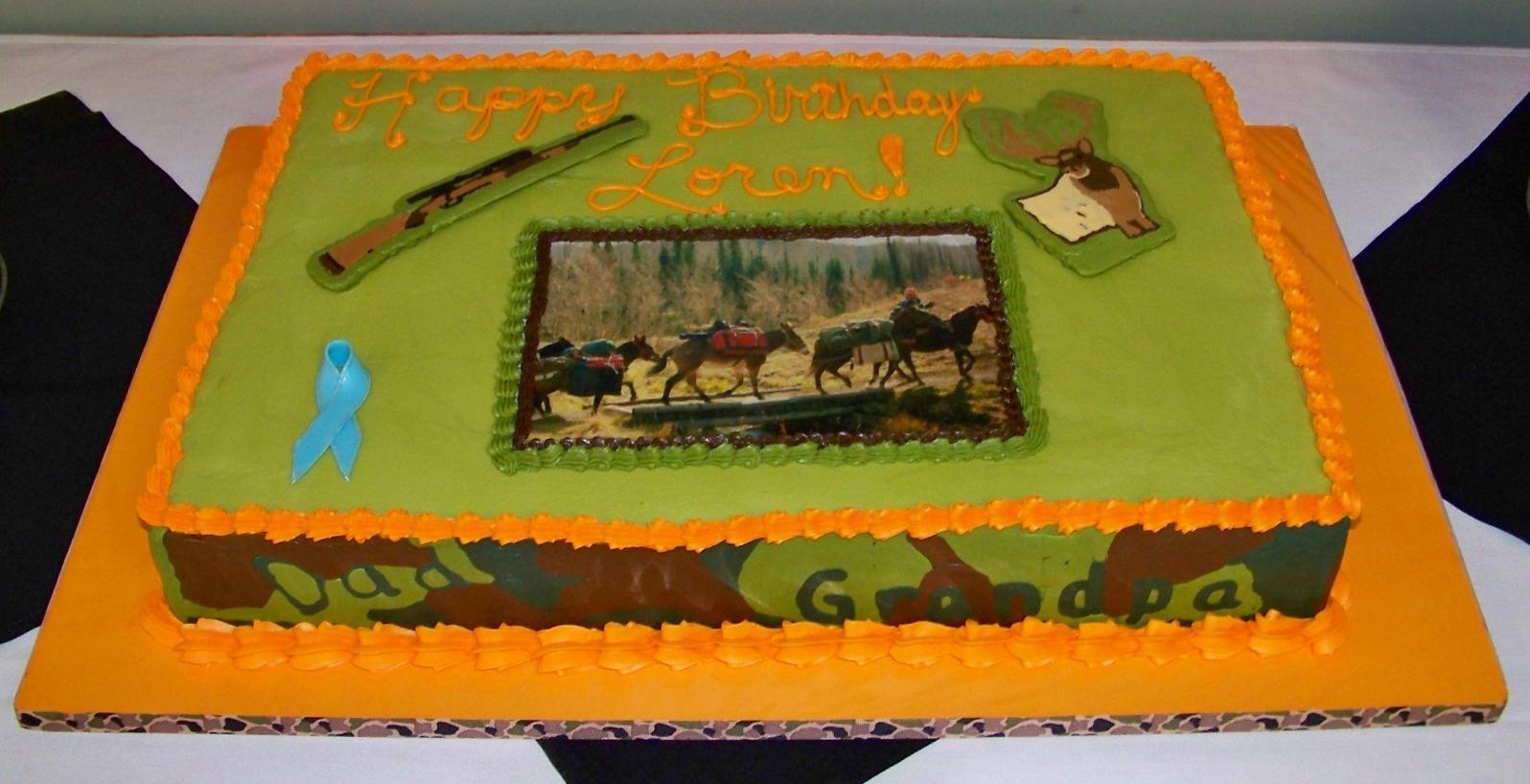 Crosshair Birthday Cake