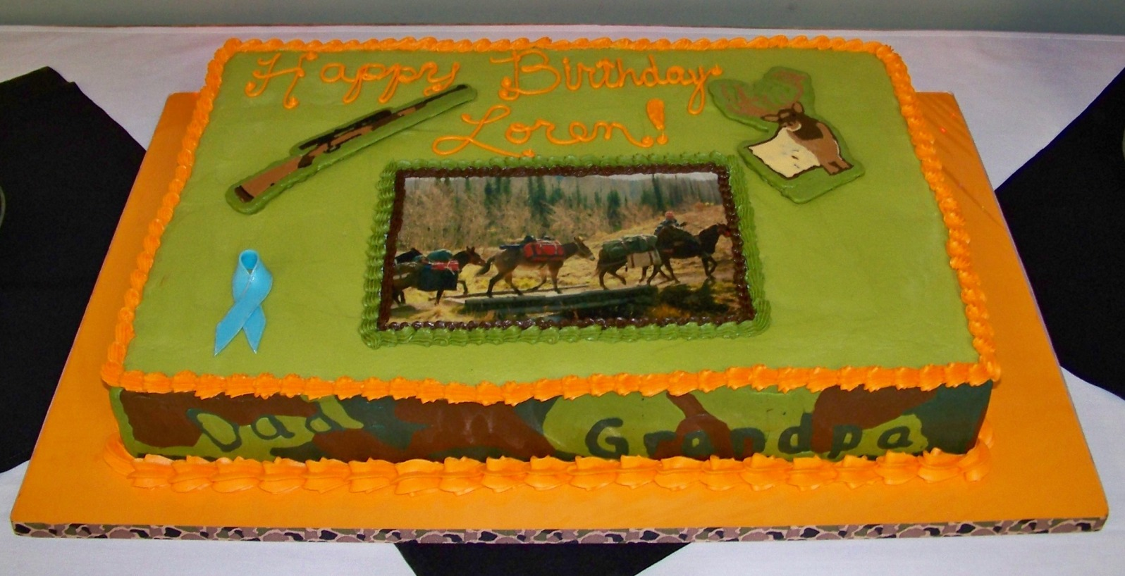 Hunting Themed Birthday Cake My Friends Husband Is Turning 70 Next Week She Wanted To Throw Him A Surprise Party As He Recent Survivor Of