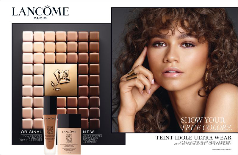Zendaya appears in Lancome Teint Idole Ultra Wear advertisement