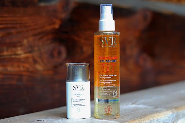 SVR Clarial Day SPF30 i woda przeciwsłoneczna SPF50