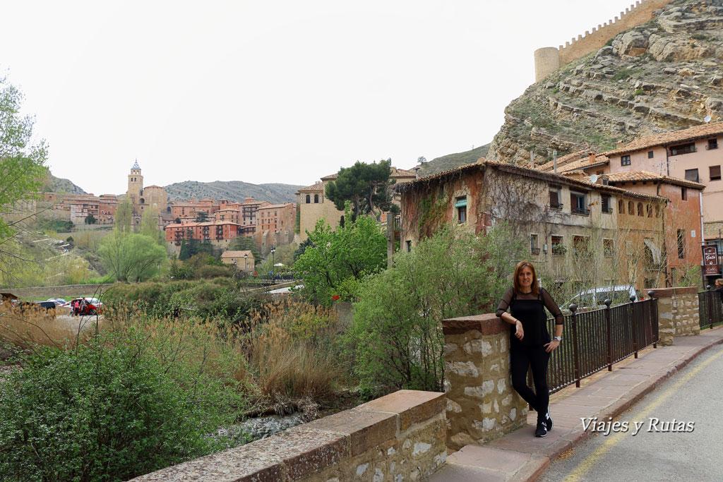 Vistas de Albarracín desde el río Guadalaviar