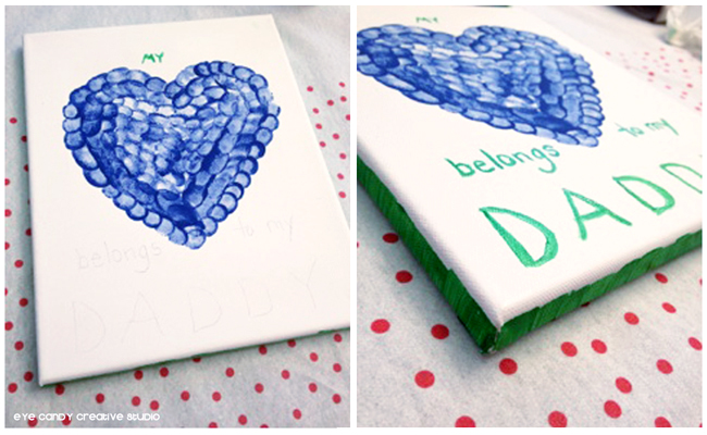 my heart belongs to daddy, message on canvas art, masterpiece, art