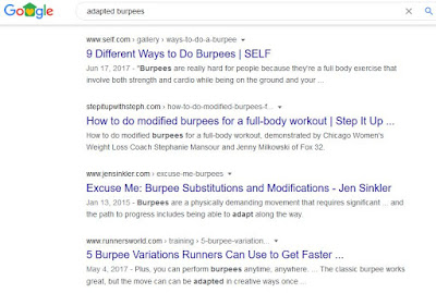 google search results adapted workouts