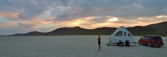 Sunset on the Alvord Desert...