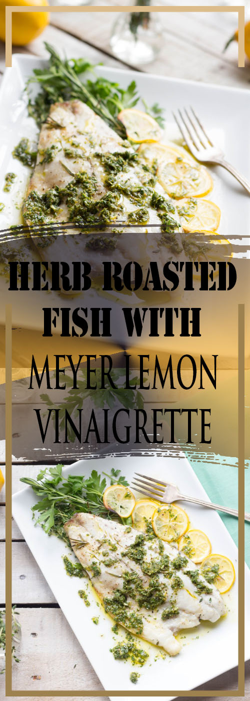 HERB ROASTED FISH WITH MEYER LEMON VINAIGRETTE RECIPE