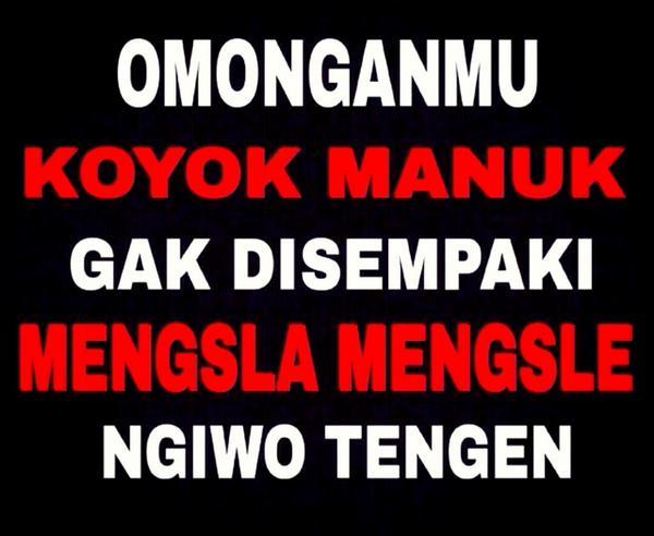 Meme Lucu Bahasa Jawa Kasar