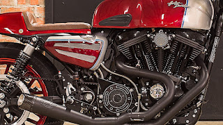 cafe racer became by hd helsingborg engine