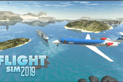Game Simulator Pesawat Penumpang Android Flight Sim 2019 APK