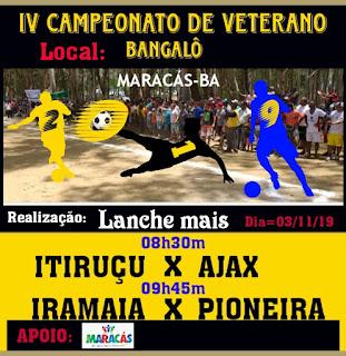 Itiruçu joga contra o Ajax  em campeonato na cidade de Maracás