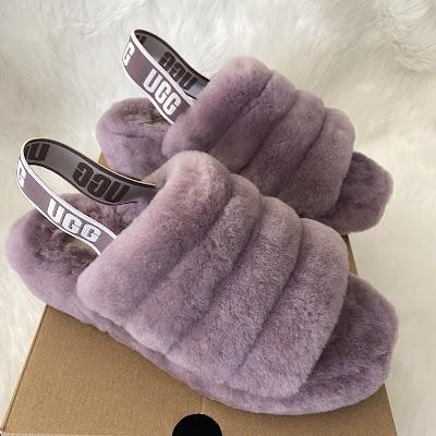 ugg fluff yeah sandal shadow lilac