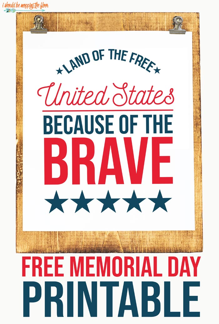 picture about Memorial Day Printable identified as Cost-free Memorial Working day Printables i really should be mopping the flooring