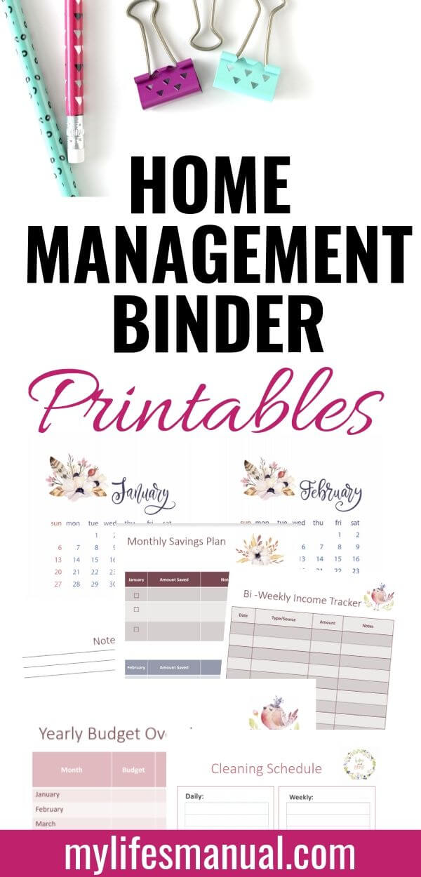 photograph regarding Life Binder Printables identify Residence Command Binder Printables for Occupied Mothers - Mylifesmanual