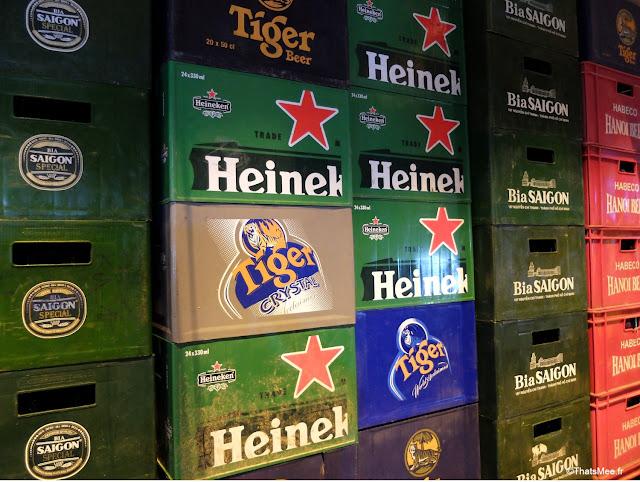 caisses bieres hanoi vietnam