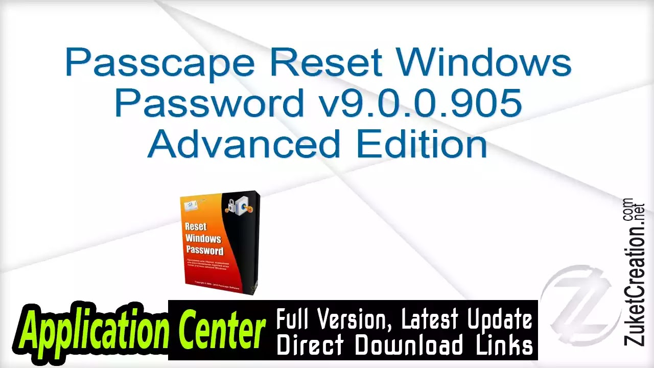 Passcape Reset Windows Password v9.0.0.905 Advanced Edition