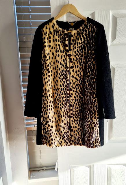Biba leopard print coat