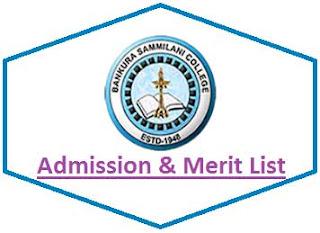 Bankura Sammilani College Merit List