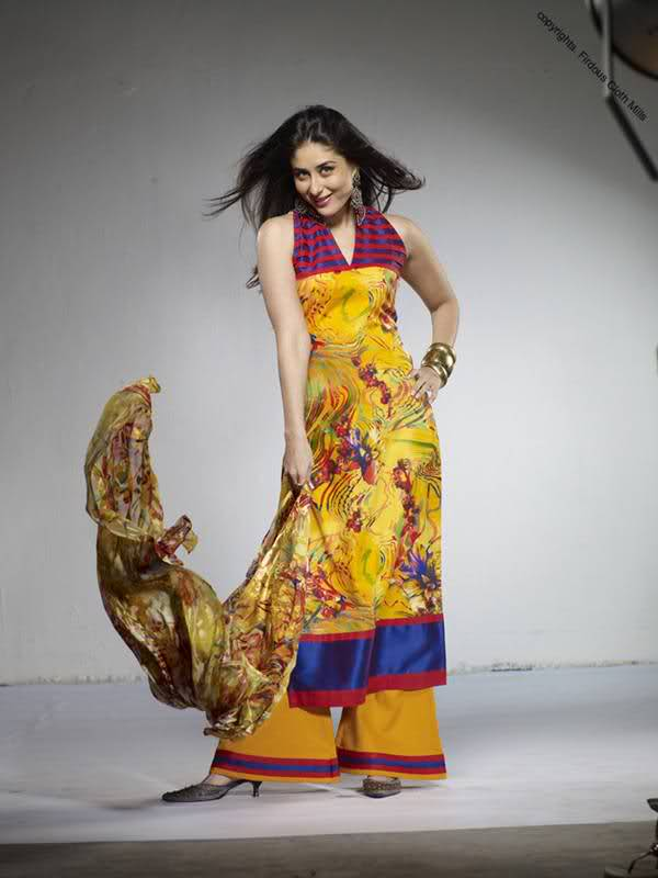 Kareena Kapoor in yellow suite, Kareena Kapoor in an indian wear