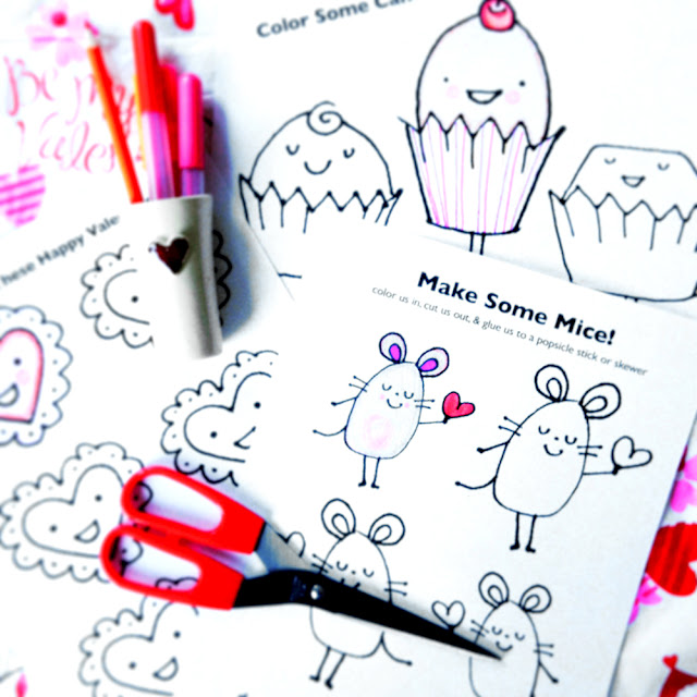Valentine Coloring Pages | Linzer Lane Blog