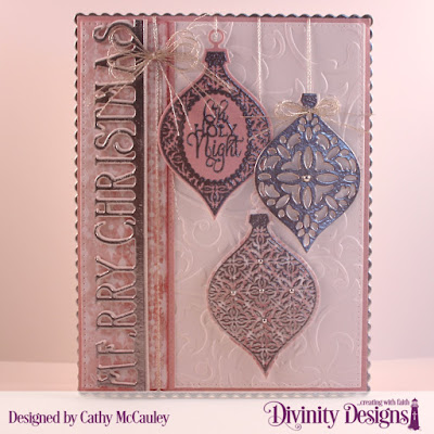 Stamp Set: Elegant Embellishments  Paper Collection: Christmas Collection 2018  Embossing Folder: Flourishes  Custom Dies: Pierced Rectangles, Elegant Embellishments, Scalloped Rectangles, Merry Christmas Border