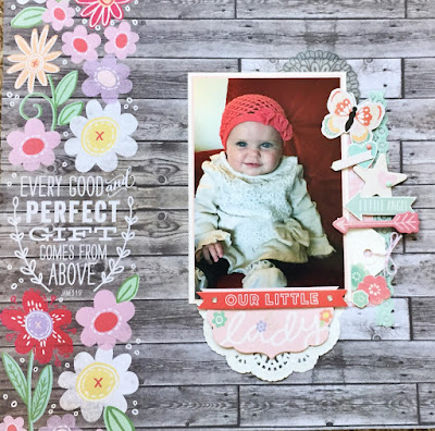 Our Little Lady Scrapbook Layout