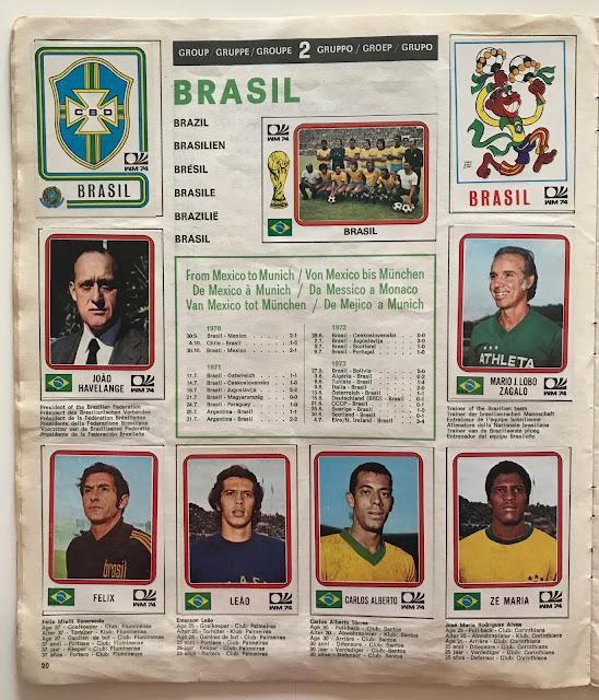 Figurine Brasile Monaco 74
